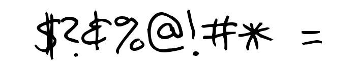 Jennifer's Hand Writing Font OTHER CHARS