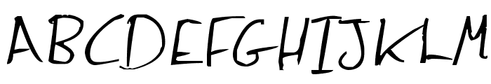 Jenny Hand Font UPPERCASE