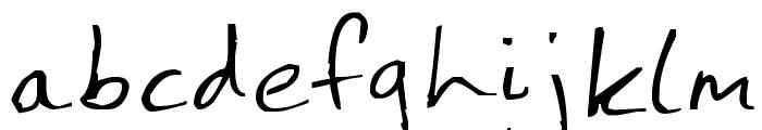 Jenny Hand Font LOWERCASE