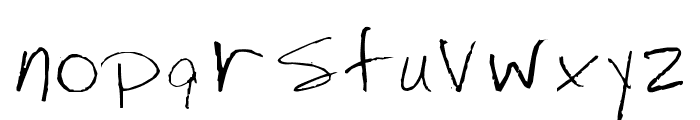 Jenny's Handwriting Font LOWERCASE