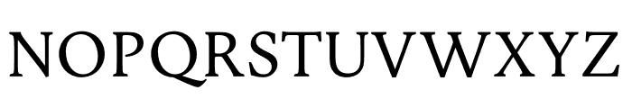 Jenriv Regular Font UPPERCASE