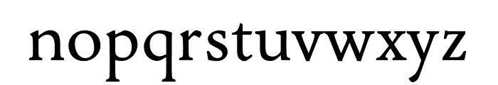 Jenriv Regular Font LOWERCASE