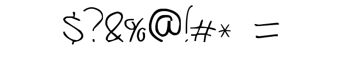 Jerry's handwriting Font OTHER CHARS