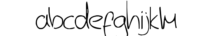 Jerry's handwriting Font LOWERCASE