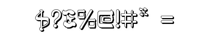 Jerusalem Shadow Font OTHER CHARS