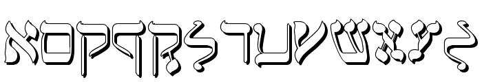 Jerusalem Shadow Font UPPERCASE