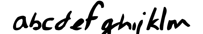 Jessescript Font LOWERCASE