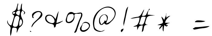 Jessica Regular Font OTHER CHARS