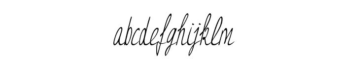 JessyHeartItalic Font LOWERCASE