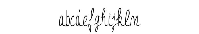 JessyHeart Font LOWERCASE