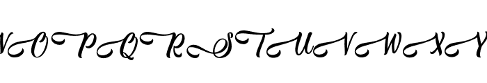 Jestho Fisher - Personal Use Font UPPERCASE