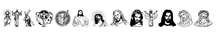 Jesus Christ Font UPPERCASE