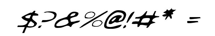 Jetta Italic Font OTHER CHARS