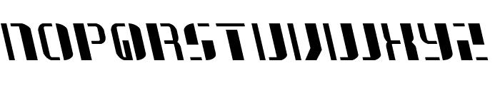 Jetway Leftalic Font UPPERCASE