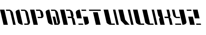 Jetway Leftalic Font LOWERCASE