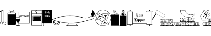 Jewish Culture JL Font LOWERCASE