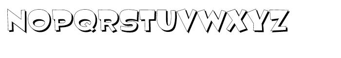 Jemima Shadow Font LOWERCASE