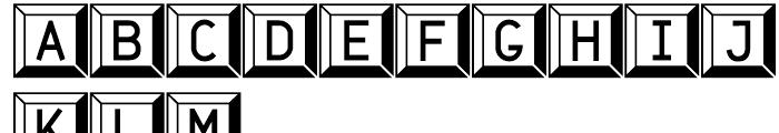Jet Jane Button Font UPPERCASE