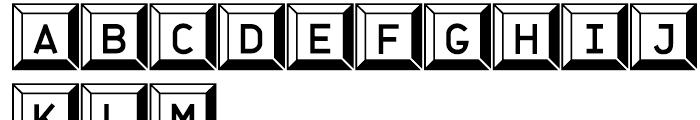 Jet Jane Button Font LOWERCASE