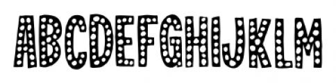 Jealous Mint Dot Dot 1 Font UPPERCASE