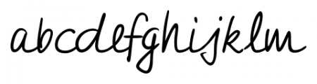 Jeff Handwriting Pro Regular Font LOWERCASE