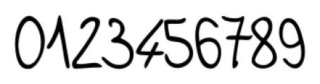 Jelena Handwriting Regular Font OTHER CHARS