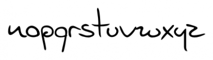 Jelena Handwriting Regular Font LOWERCASE