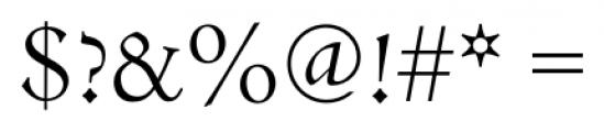 Jenson Recut Regular Font OTHER CHARS