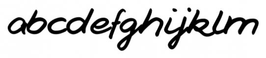 Jesco Handwriting Pro Regular Font LOWERCASE