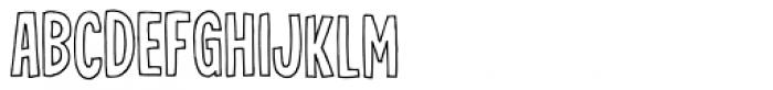 Jealous Mint Outline Font LOWERCASE