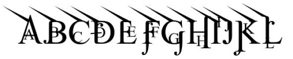 Jean Splice UpLeft Font UPPERCASE