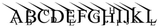 Jean Splice UpLeft Font LOWERCASE