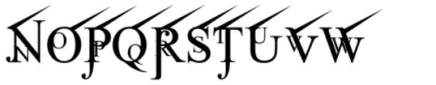 Jean Splice UpRite Font UPPERCASE