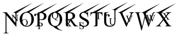 Jean Splice UpRite Font LOWERCASE