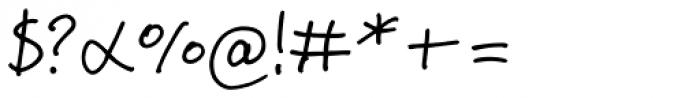 Jeff Script Font OTHER CHARS