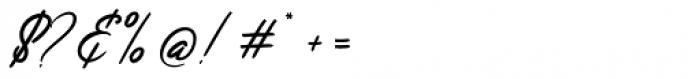 Jefinian Script Regular Font OTHER CHARS