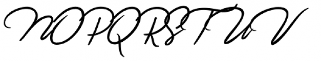 Jefinian Script Regular Font UPPERCASE