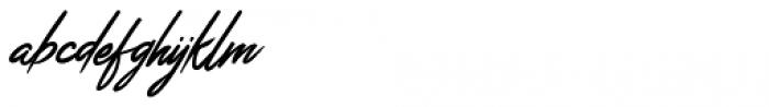 Jefinian Script Regular Font LOWERCASE
