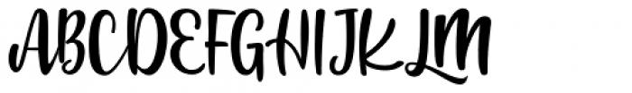 Jennifer Ellis Regular Font UPPERCASE