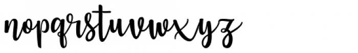 Jennifer Ellis Regular Font LOWERCASE