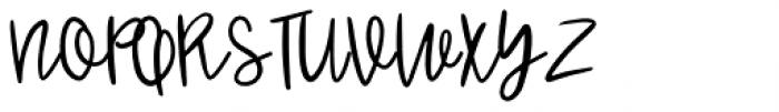 Jenthill Light Font UPPERCASE