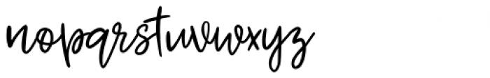 Jenthill Light Font LOWERCASE