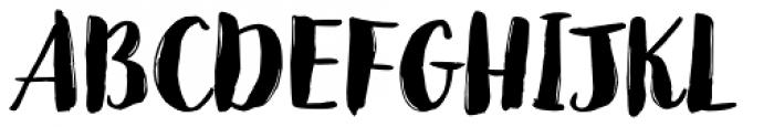 Jeremy Brush Font UPPERCASE