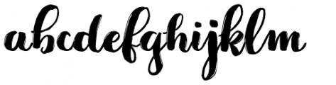 Jeremy Brush Font LOWERCASE