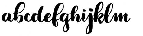 Jeremy Dark Font LOWERCASE
