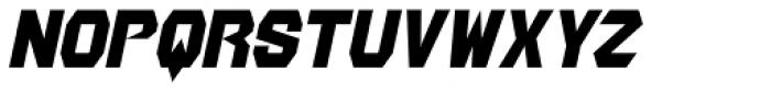 Jericho AOE Oblique Font UPPERCASE
