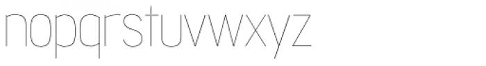 Jesaya UltraLight Font LOWERCASE