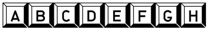 JetJaneButton Font LOWERCASE
