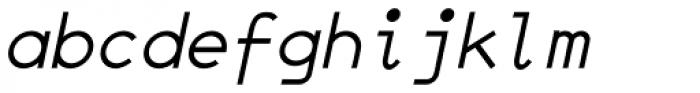 JetJaneMono Italic Font LOWERCASE