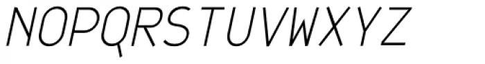 JetJaneMono Thin Italic Font UPPERCASE